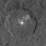 Krater Occator auf Zwergplanet Ceres