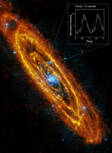 Rotierender Neutronenstern in der Andromeda-Galaxie