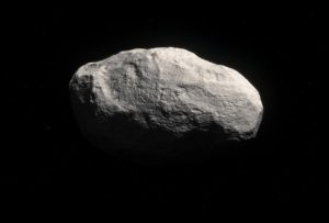 Künstlerische Darstellung des einzigartigen Gesteins-Kometen C/2014 S3 (PANSTARRS)