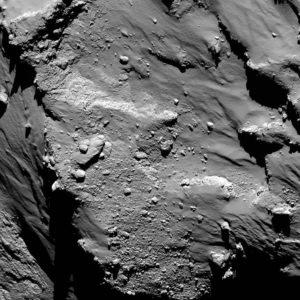 Aufnahme des Philae während des Abstiegs zum Kometen