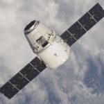 Raumschiff Dragon auf dem Weg zur ISS