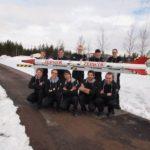 ZARM-Team mit ZEpHyR-Rakete in Schweden