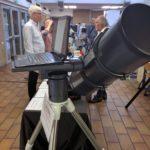 Giro-Montierung STK, im Hintergrund hinter dem Teleskop Rolf Klemme